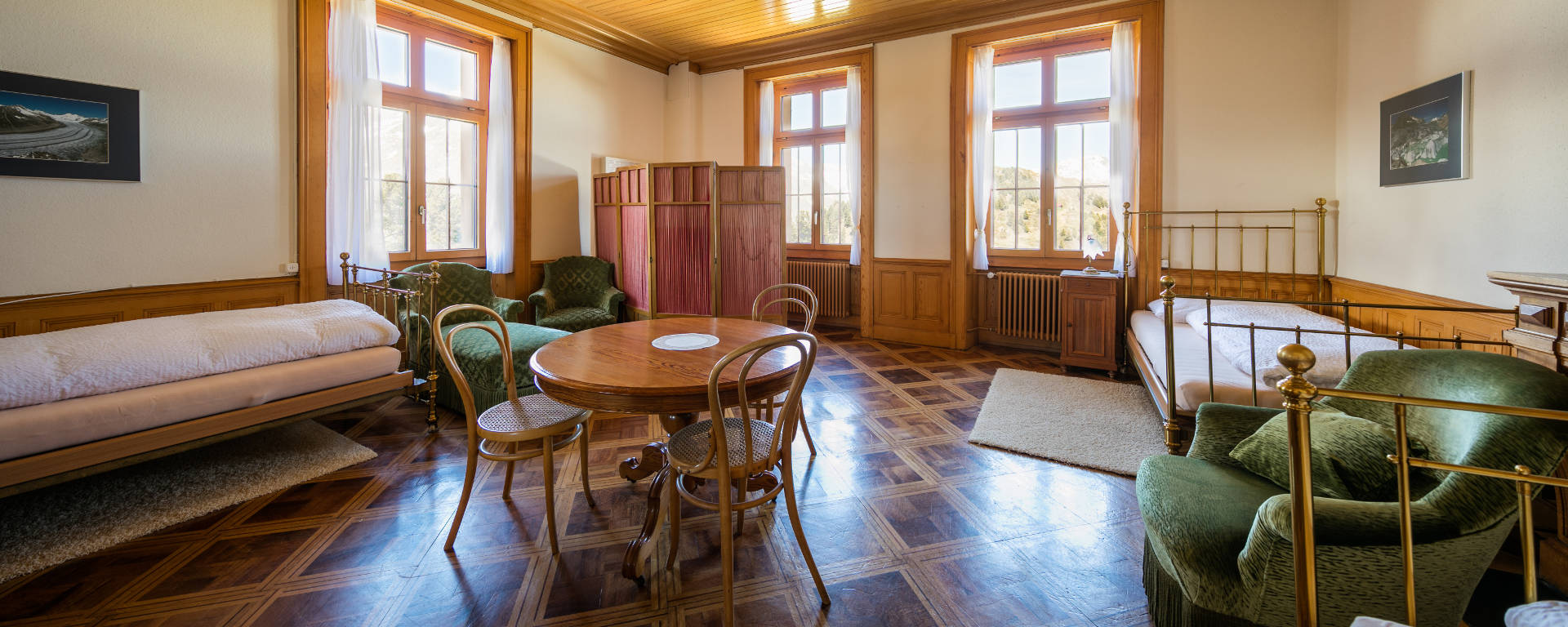 Suite in Villa Cassel © Pro Natura Zentrum Aletsch